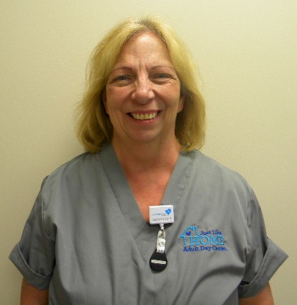 """Sharon Truss is an LPN and part of the medical staff at """"Just Like Home"""" senior care center in Jackson, WI…minutes away from Port Washington and Grafton"""